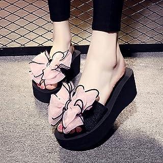 女性のスリッパ夏のちょう結びスリップサンダルスリッパファッショントレンドスリッパ ( 色 : ピンク ぴんく , サイズ さいず : US:7\UK:6\EUR:39 )