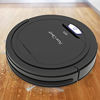PUCRC26B Automatic Robot Vacuum Cleaner - Robotic Auto Home Cleaning for Clean Carpet Hardwood Floor - Bot Self Detects Stairs - Air Filter Pet Hair Allergies Friendly - Pure Clean