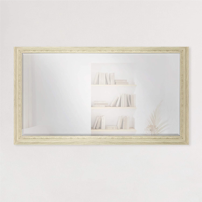 MCS アウトレット☆送料無料 28.66x49.66 Inch Ezra Oversize Mirror Natural Woodgrai Wall SALE開催中