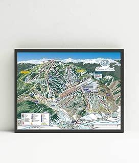 Beaver Creek Ski Resort Trail Map Poster Framed or Unframed (24