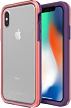 Lifeproof SLAM SERIES Case for iPhone X (ONLY) - Retail Packaging - FREE FLOW (CLEAR/FUSION CORAL/ROYAL LILAC)