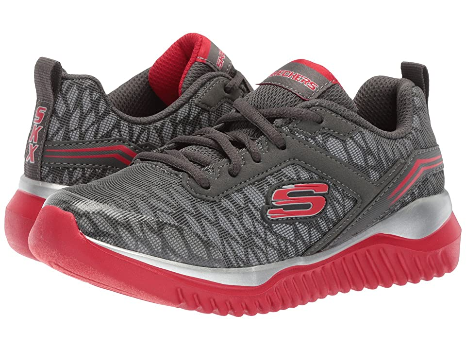SKECHERS KIDS Turboshift (Little Kid/Big Kid) (Charcoal/Red 1) Boys Shoes
