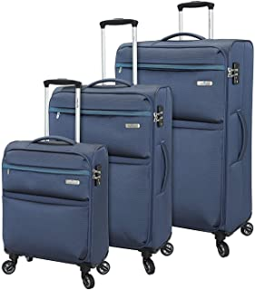 Regent Square Travel - Luggage Set With Spinner Goodyear Wheels - Built-In TSA Lock - Set of 3 Pieces - Soft Case - Night ...
