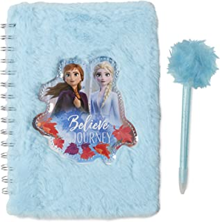 Frozen 2 Fuzzy Kids Journal & Pen Set With Soft Plush Design And Inspirational Saying - Spiral Bound Hardcover Diary/Notebook and Pen With Lined White Paper Covered In Faux Fur For Writing And Drawing