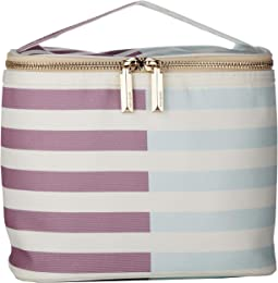 Two-Tone Stripes Lunch Tote