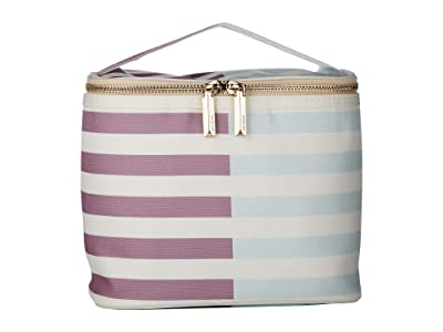 Kate Spade New York Two-Tone Stripes Lunch Tote (Light Purple) Bags