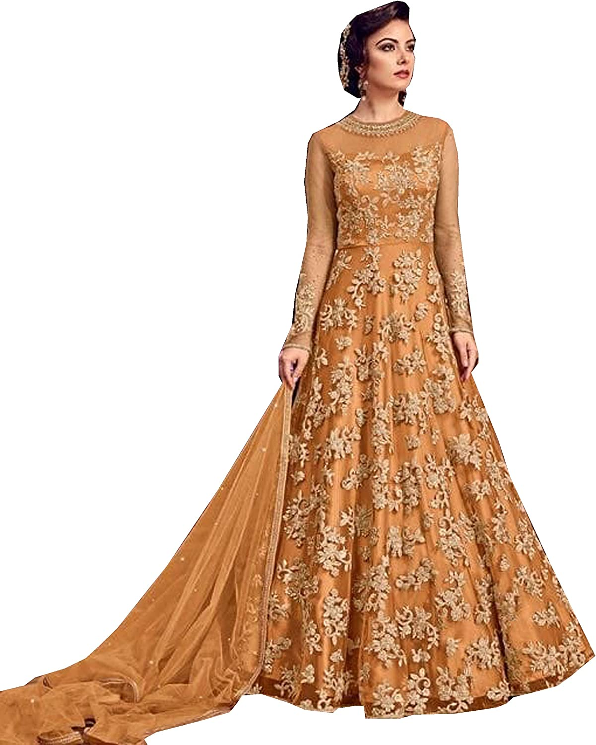 Delisa Indian/Pakistani Bollywood Party Wear Long Anarkali Gown for Womens Razzi violate N