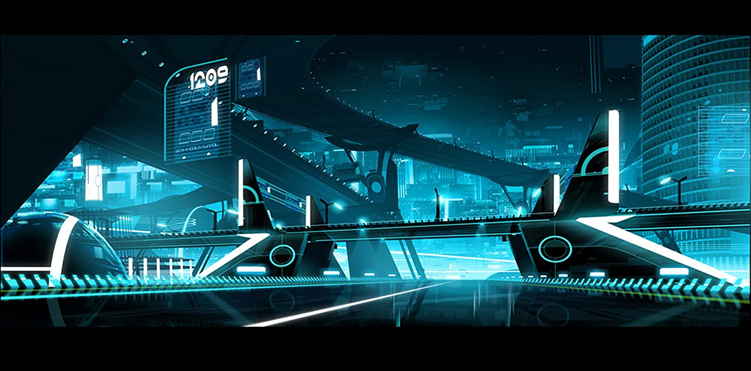 The Tron Uprising Scene Movie Wall Poster Easy-to-use Print Ar OFFicial site