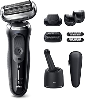Braun Electric Razor for Men, Series 7 7085cc 360 Flex Head Electric Shaver with Beard Trimmer, Rechargeable, Wet & Dry, 4...