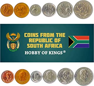 Set of 6 Commemorative Coins from South Africa. 1, 2, 5, 10, 20, 50 Cents. 1968-1982