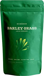 SB Organics Barley Grass Juice Powder - USDA Organic Antioxidant Superfood with Vitamins, Minerals, Chlorophyll - 8 oz.