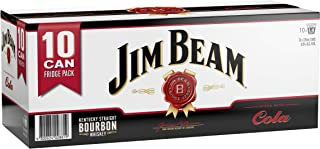 Jim Beam White Label Bourbon & Cola Cans 10 Pack 375ml (Pack Of 10)