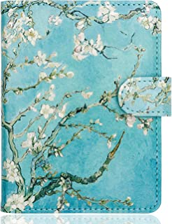 WALNEW Passport Holder Cover Case Travelling Passport Cards Carrier Wallet Case (E-Tree and Flowers)