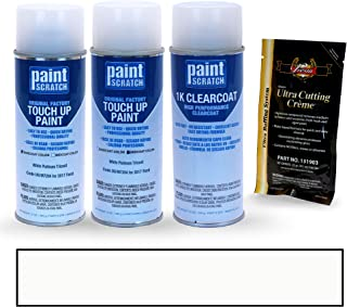 PAINTSCRATCH White Platinum Tricoat UG/M7204 for 2017 Ford Explorer - Touch Up Paint Spray Can Kit - Original Factory OEM Automotive Paint - Color Match Guaranteed