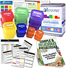 21 Day LABELED Efficient Nutrition Portion Control Containers Kit (14-Piece) + COMPLETE GUIDE + 21 DAY PLANNER eBOOK + REC...