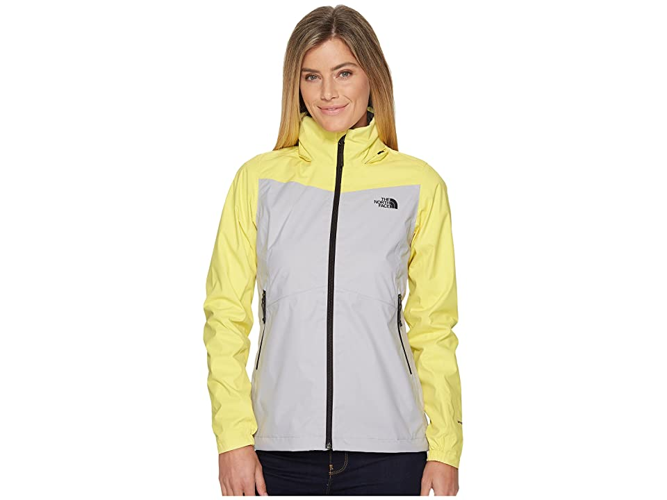 The North Face Resolve Plus Jacket (High Rise Grey/Stinger Yellow) Women