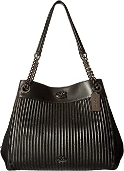 COACH - Turnlock Edie Shoulder Bag With Quilting