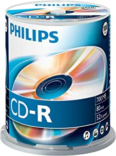 Philips CD-R CR7D5NB00/00 - CD-RW vírgenes (CD-R, 700 MB, 100 Pieza(s), 80 min, 52x)