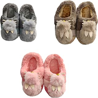 INFISPACE® Kid's Super-Soft Fur Padded Kitty Slippers (Multicolor, Pack of 1)