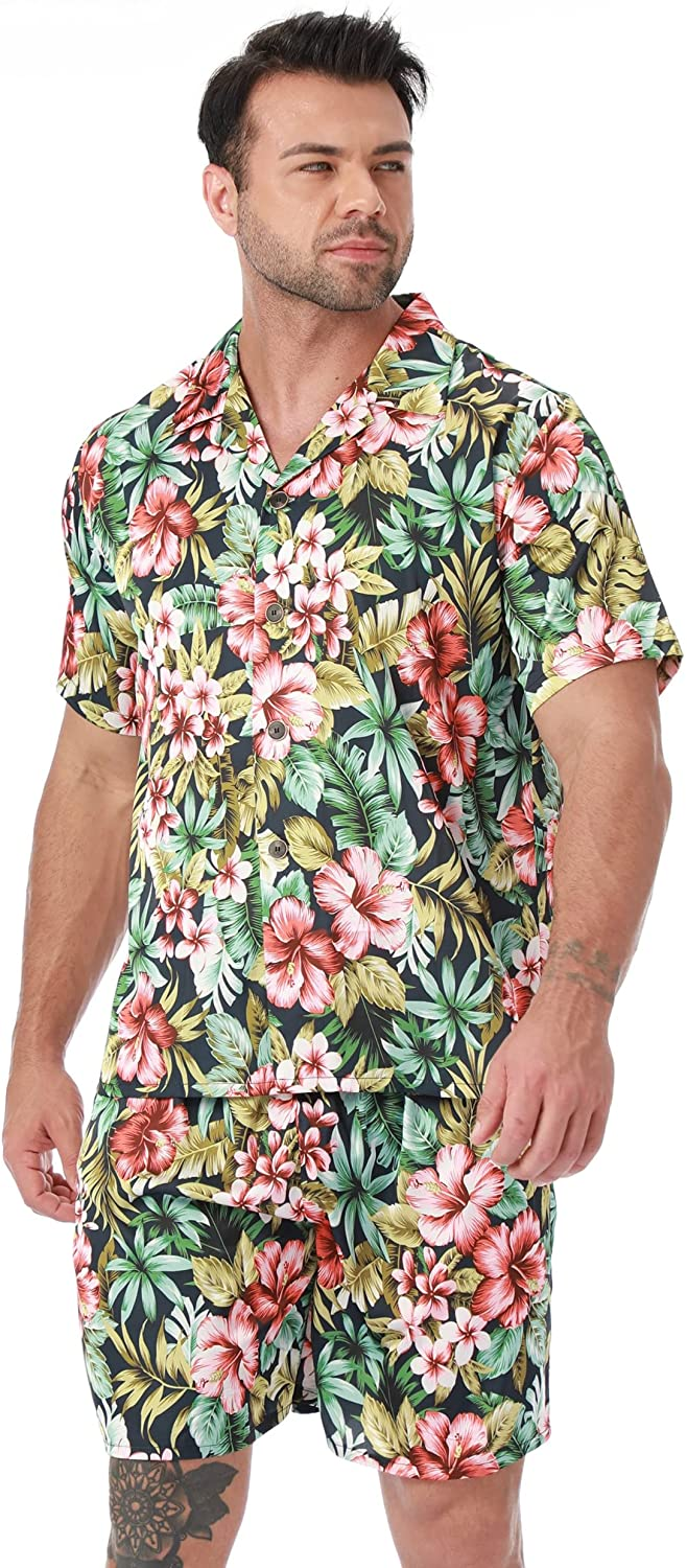 All stores Deluxe are sold LEPTON Mens Pajamas Set - Silk and Satin Men's Bottoms Hawaii PJ