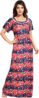 Be You Multicolor Sarina Satin Printed Nightgowns for Women