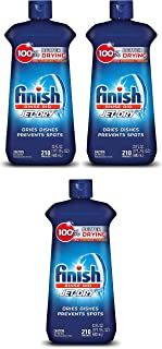 Finish Jet-Dry Rinse Aid, 23oz, Dishwasher Rinse Agent & Drying Agent Pack of 3