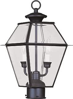 Livex Lighting 2284-07 Westover 2-Light Outdoor Post Head, Bronze