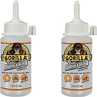 Gorilla Clear Glue, 3.75 Ounce Bottle, Clear (4 Pack)