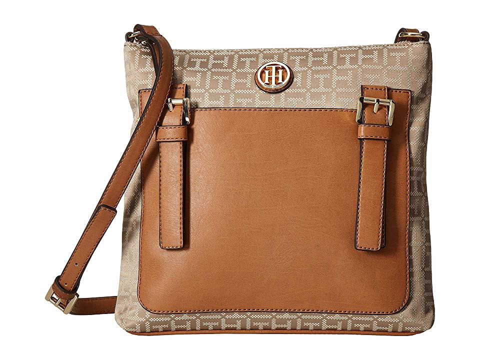 Tommy Hilfiger Imogen Crossbody (Khaki/Tonal) Handbags