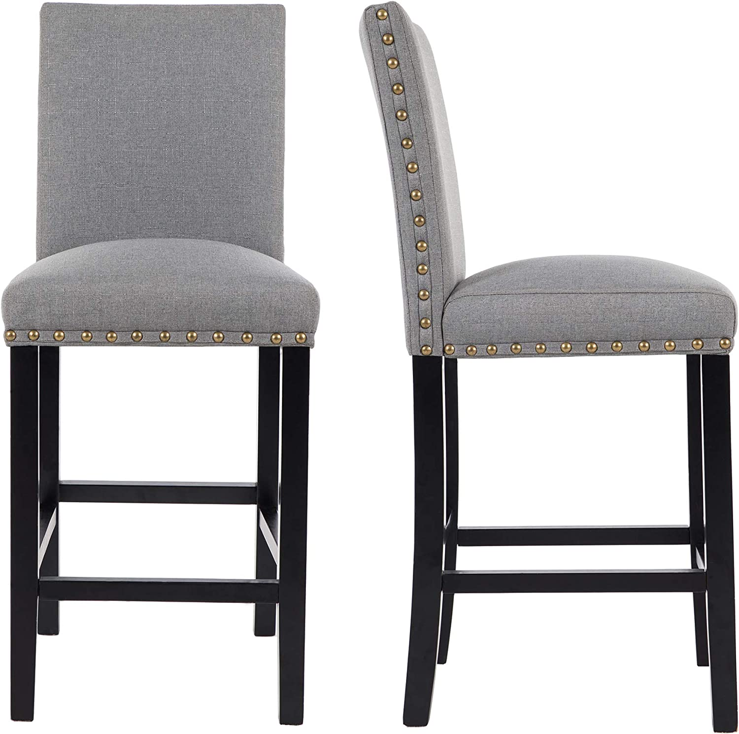 Max 65% OFF GOTMINSI Nailhead Super popular specialty store 24 Inches Counter Stools Height Ba Upholstered