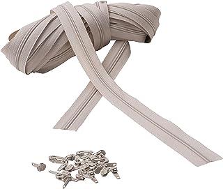 IPEA Fermeture éclair Lampo Taille 3# Chaîne continue - 10 mètres - Corde en nylon + 25 curseurs inclus - Zip - Découpable...