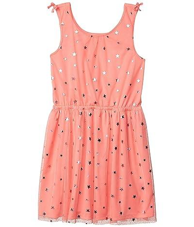 Tommy Hilfiger Kids Mesh Bow Dress (Big Kids) (Canal Wash) Girl