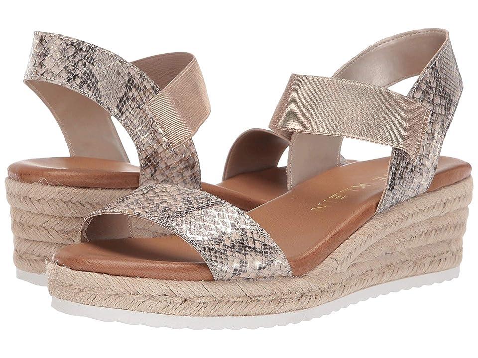 Anne Klein Cait Espadrille Platform Sandal (Natural) Women's Shoes, Beige
