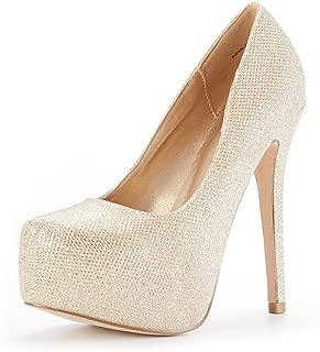 gold sparkly platform heels