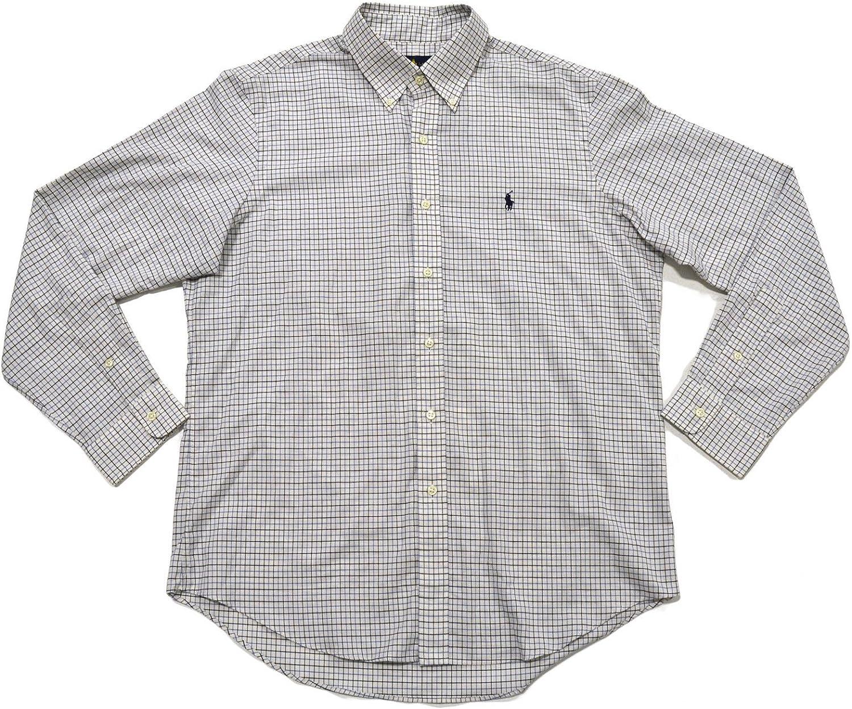 Polo Ralph Lauren Men's Plaid Poplin Sport Shirt (Blue/Navy Checks)