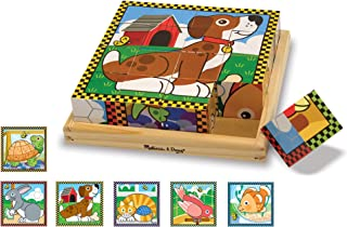 Melissa & Doug 3771 Pets Wooden Cube Puzzle with Storage Tray (16 pcs)
