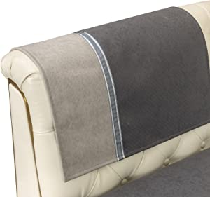 Manshifeier Sofa Armrest Slipcover, Waterproof and Anti-Slip Sofa Armrest Covers, Wear-Resistant and Anti-Wrinkle Furniture Protector Cover, for Pets Kids Children Dog Cat, 1 Piece (20x24)