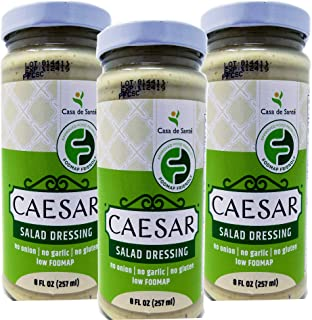 Low FODMAP Certified Caesar Salad Dressing 3PK, Gluten Free, Lactose Free, Soy Free, No Onion No Garlic, No Carb, Keto, Gourmet Food for IBS & Gut Health - Casa de Sante