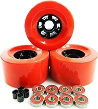 83mm Longboard Flywheels Wheels + ABEC 7 Bearings Spacers