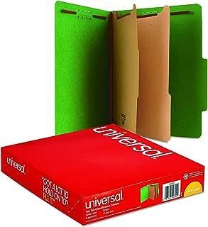 Universal 10302 Pressboard Classification Folders, Letter, Six-Section, Emerald Green (3 Box of 10)