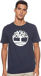 قميص كم قصير عليه طبعة شعار العلامة الشجرة ومصنوع بتقنية الخيوط المزدوجة من تيمبرلاند