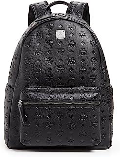 MCM Men's Ottomar Monogrammed Leather Medium Backpack, Black, One Size