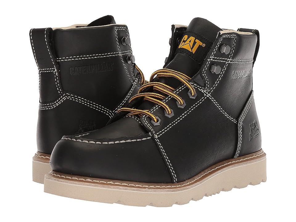 Caterpillar Tradesman (Black Full Grain Leather) Men