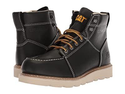 Caterpillar Tradesman (Black Full Grain Leather) Men