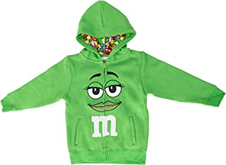 M&M's Zip up Youth Big Face Fleece Hoodie Sweatshirt