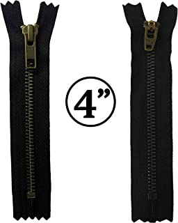 KGS 4 inch Metal Zipper #5 | Antique Color | 5 pcs/Pack