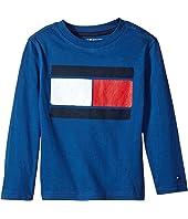 Tommy Hilfiger Kids - Tommy Flag-Bex Jersey Long Sleeve Tee (Toddler/Little Kids)