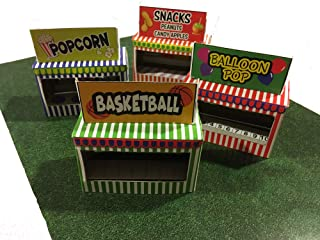 HO Scale Circus Carnival Booth Stand Kit - Makes 4