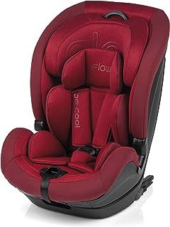 Be Cool Flow - Silla de coche grupo 1 2 3, de 9 a 36 kg, con isofix y top tether, incluye reductor, grupo 1 2 3, unisex, Color Rojo