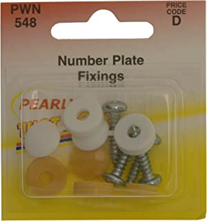 yellow number plate screw caps
